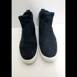 Timberland Black Suede Slip On Sneaker Boots